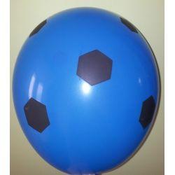 Futbalova lopta modra