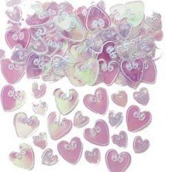 Konfety - perleťové srdiečka