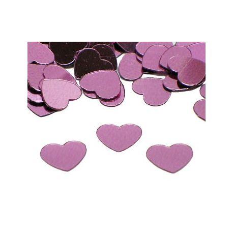 Konfety - ružové srdiečka