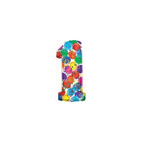 """Číslo """"1"""" - farebná"""