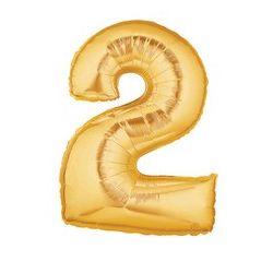"""Číslo """"2"""" - zlatá"""