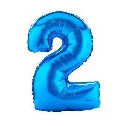 """Číslo """"2"""" - modrá"""