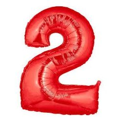 """Číslo """"2"""" - červená"""