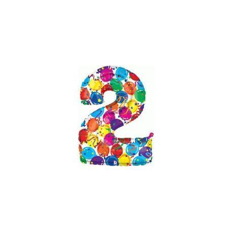 """Číslo """"2"""" - farebná"""