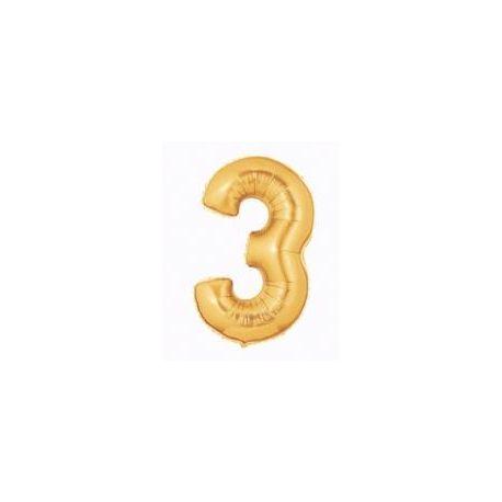 """Číslo """"3"""" - zlatá"""