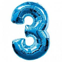 """Číslo """"3"""" - modrá"""