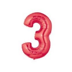 """Číslo """"3"""" - červená"""