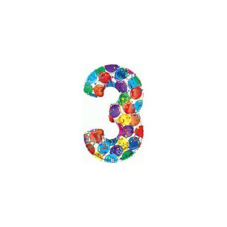 """Číslo """"3"""" - farebná"""