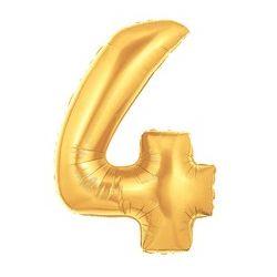 """Číslo """"4"""" - zlatá"""