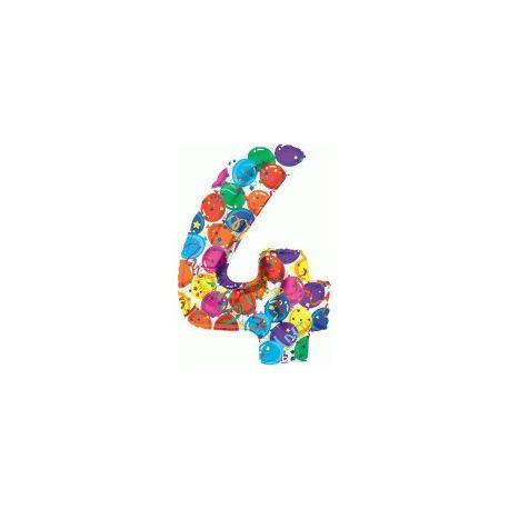 """Číslo """"4"""" - farebná"""