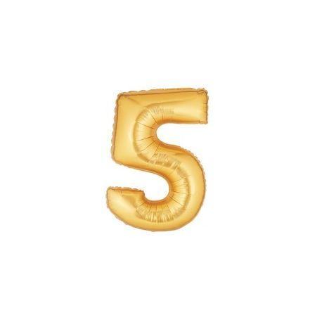 """Číslo """"5"""" - zlatá"""