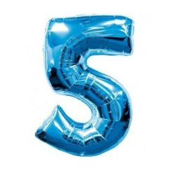 """Číslo """"5"""" - modrá"""