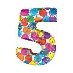 """Číslo """"5"""" - farebná"""