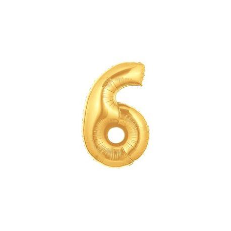 """Číslo """"6"""" - zlatá"""