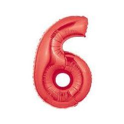 """Číslo """"6"""" - červená"""