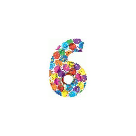 """Číslo """"6"""" - farebná"""
