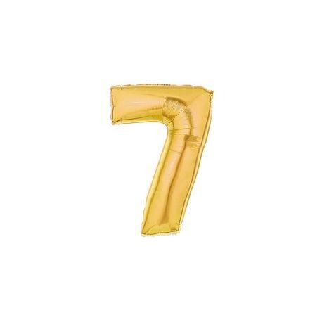"""Číslo """"7"""" - zlatá"""