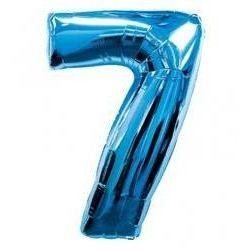 """Číslo """"7"""" - modrá"""