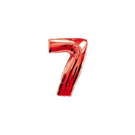 """Číslo """"7"""" - červená"""