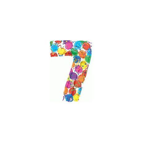 """Číslo """"7"""" - farebná"""
