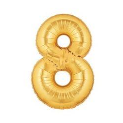 """Číslo """"8"""" - zlatá"""