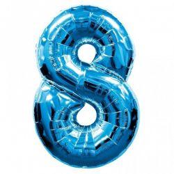 """Číslo """"8"""" - modrá"""