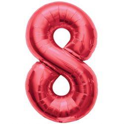 """Číslo """"8"""" - červená"""
