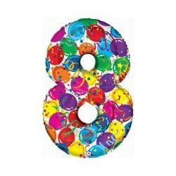 """Číslo """"8"""" - farebná"""