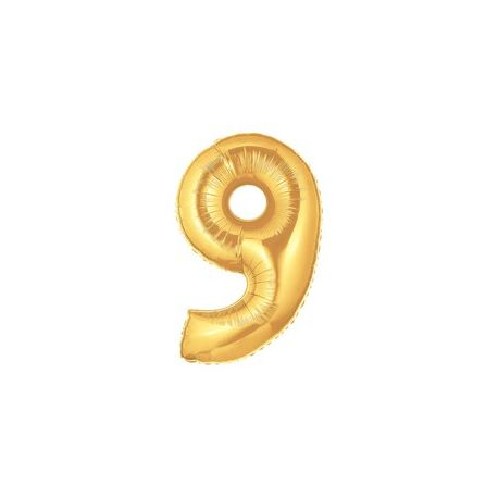 """Číslo """"9"""" - zlatá"""