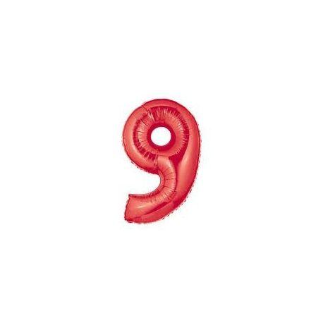 """Číslo """"9"""" - červená"""