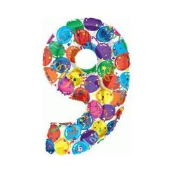 """Číslo """"9"""" - farebná"""