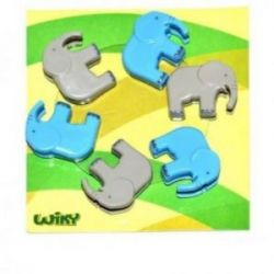 Klip v tvare slona , 6ks