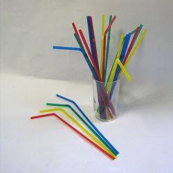 Slamky flexibilné farebné mix 24 cm (50ks)
