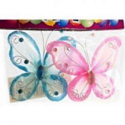 Dekorácia Motýľ 2 ks