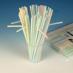 Slamky flexibilné pruhované 24 cm (250 ks)