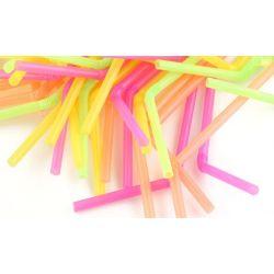 Slamky flexibilné farebné mix 24 cm (250 ks)