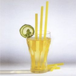 Slamky JUMBO žlté 25 cm x 8 mm (150 ks)