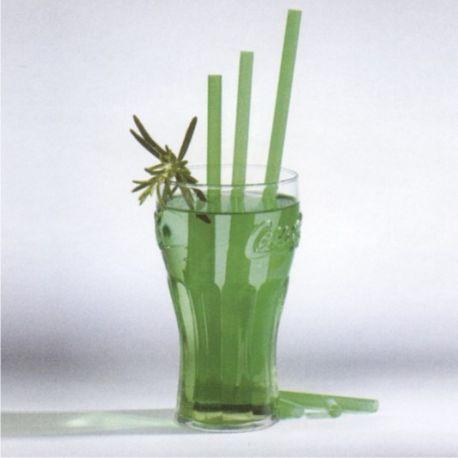 Slamky JUMBO zelené 25 cm x 8 mm (150 ks)