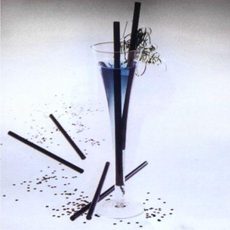 Slamky JUMBO čierne 25 cm x 8 mm (150 ks)