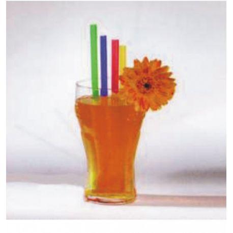 Slamky JUMBO farebné mix 25 cm x 8 mm (500 ks)