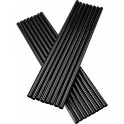 Slamky JUMBO čierne 25 cm x 8 mm (500 ks)