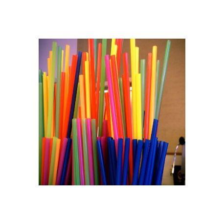 Slamky rovné XXL 100 cm x 6,5 mm (100 ks)