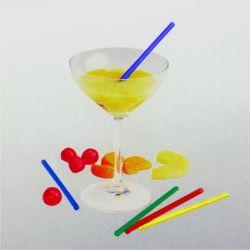 Slamky koktejlové Jumbo farebné mix 130x5mm (150ks)