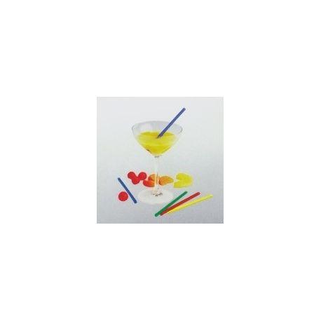 Slamky koktejlové farebné mix 13 cm x 5 mm (100 ks)