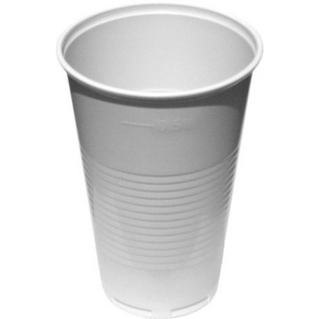 Pohár biely 0,5 l (PP) priemer 95mm (10 ks)