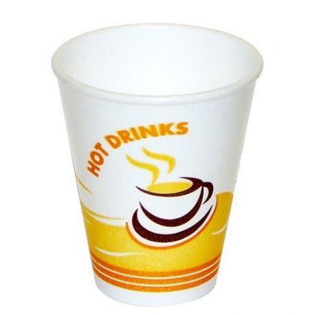 Termo-pohár s potlačou Hot Drinks 200ml (50 ks)