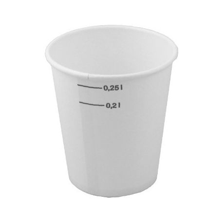 Papierový pohár biely 0,2l/0.25 l (50ks)