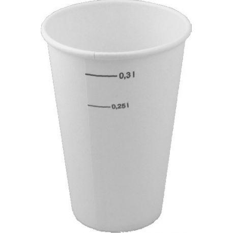 Papierový pohár biely 0.3 l (50ks)
