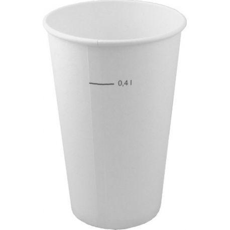 Papierový pohár biely 0.4 l (50ks)