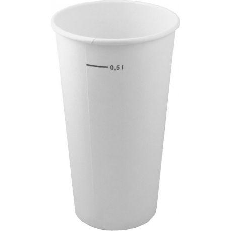 Papierový pohár biely 0.5 l (25ks)